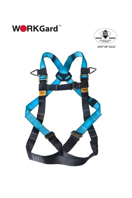 WORKGard® WGF512 Full Body Harness with Fro nt and Dorsal Anchorage Points