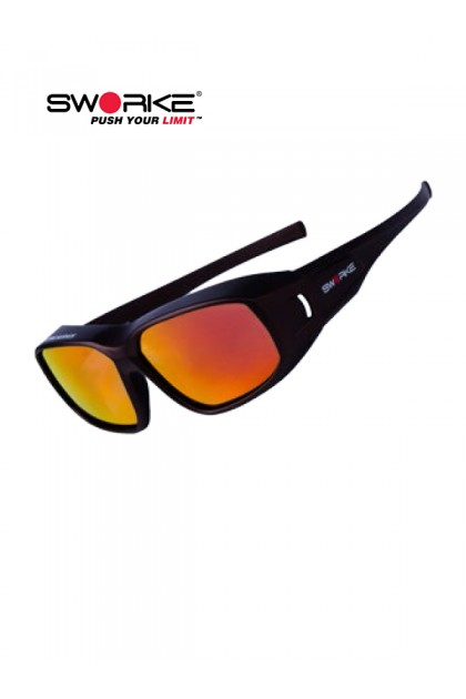 SWORKE® Feather Safety prescription eyewear (Matt brown frame)